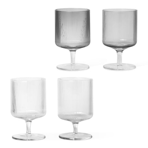 Ferm Living Ripple Wine Glasses Set of 2