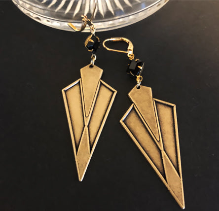 Hollywood-Art Deco Style Earrings - Ceci Punch Designs