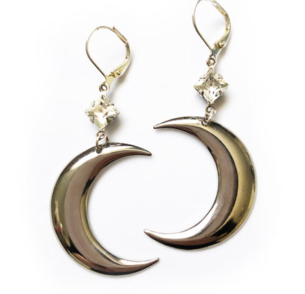 Crescent Moon Earrings - Ceci Punch Designs