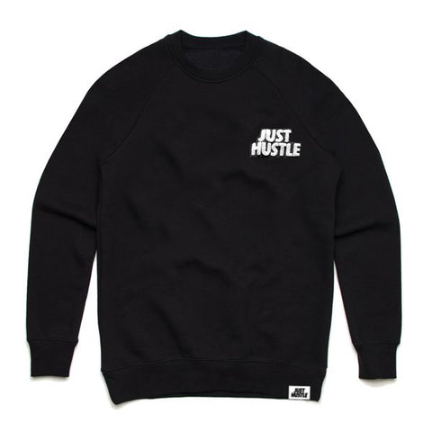 Just Hustle Chenille Patch Crewneck