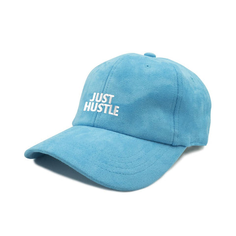 Just Hustle Faux Suede Dad Cap -Light Blue