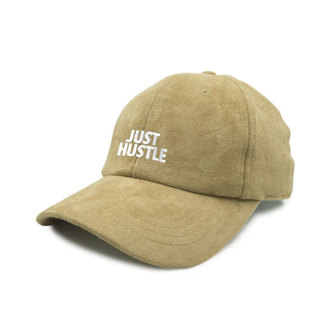 Just Hustle Faux Suede Dad Cap -Khaki