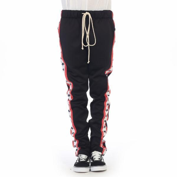Black Star Graphic Track Pants