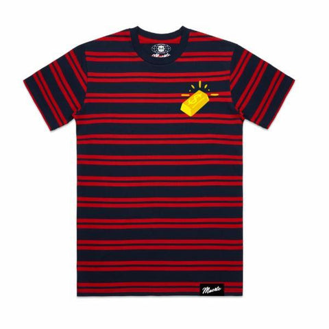 Double Stripe Brick Red/Navy