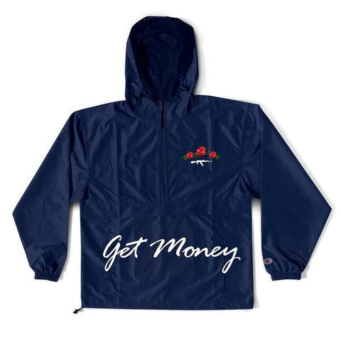 Get Money Rose Seal Front/Back Champion Anorak