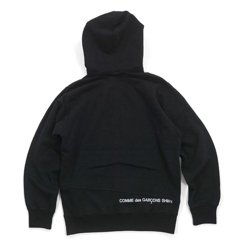 Supreme Comme des Garcons Split Box Logo Hooded Sweatshirt (black)