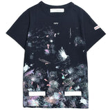 OFF WHITE GALAXY BRUSHED T-shirt