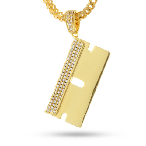 The 14K Gold RZR Blade Necklace