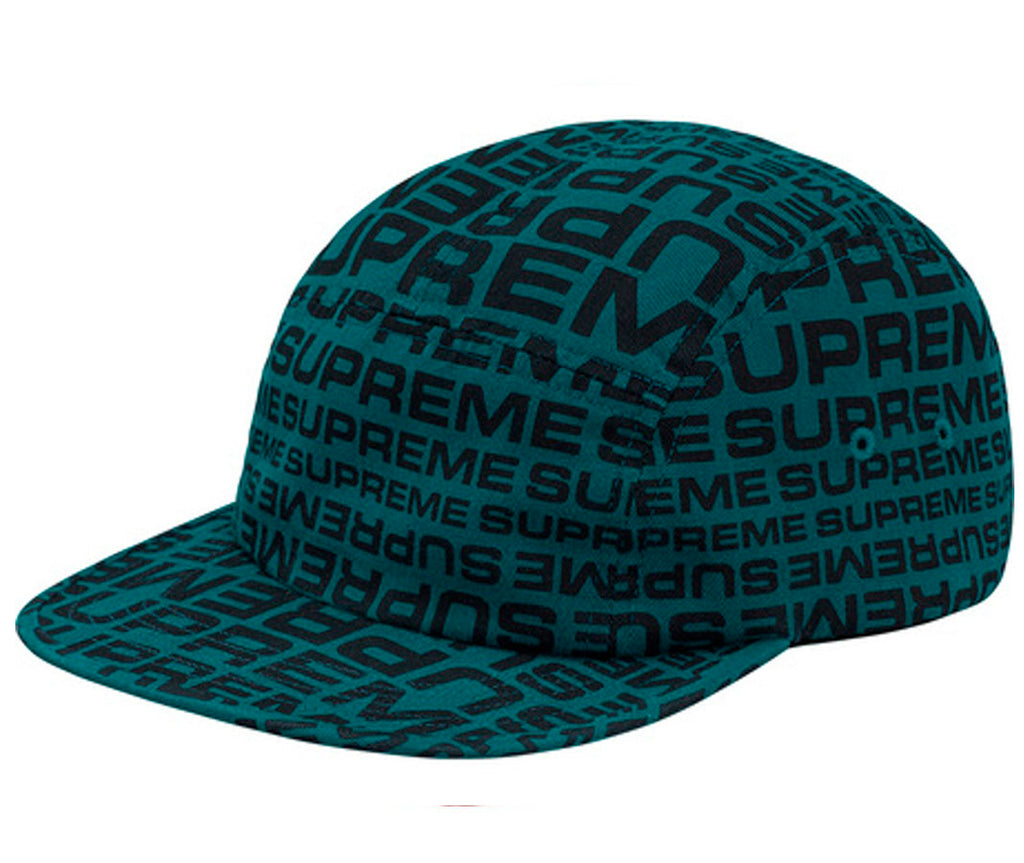 Supreme Repeater Camp Cap- Teal