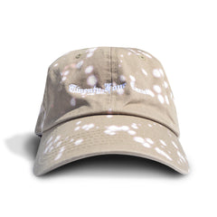 Old English Dad Cap - Tan with Bleach