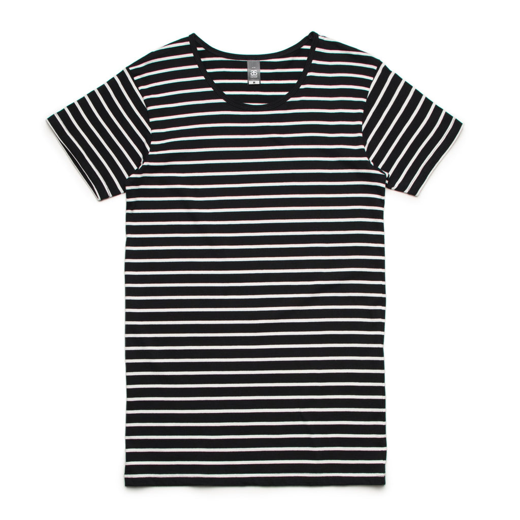 5024 Wire Stripe Tee (BLACK/NATURAL)
