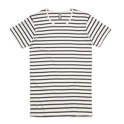 5024 Wire Stripe Tee (NATURAL/BLACK)