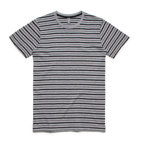 5028 Staple Stripe Tee (ATHLETIC HEATHER/BLACK)