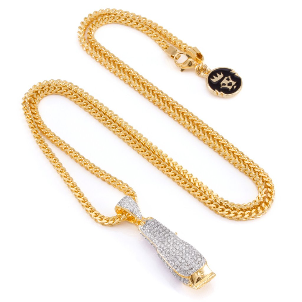 The 14K Gold Barber Shop Clippers Necklace