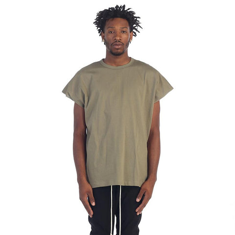 BACK SEAM MUSCLE TEE (Fade Olive)