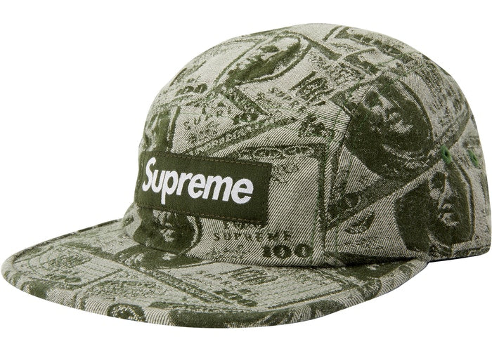 Supreme 100 Dollar Bill Camp Cap- Green