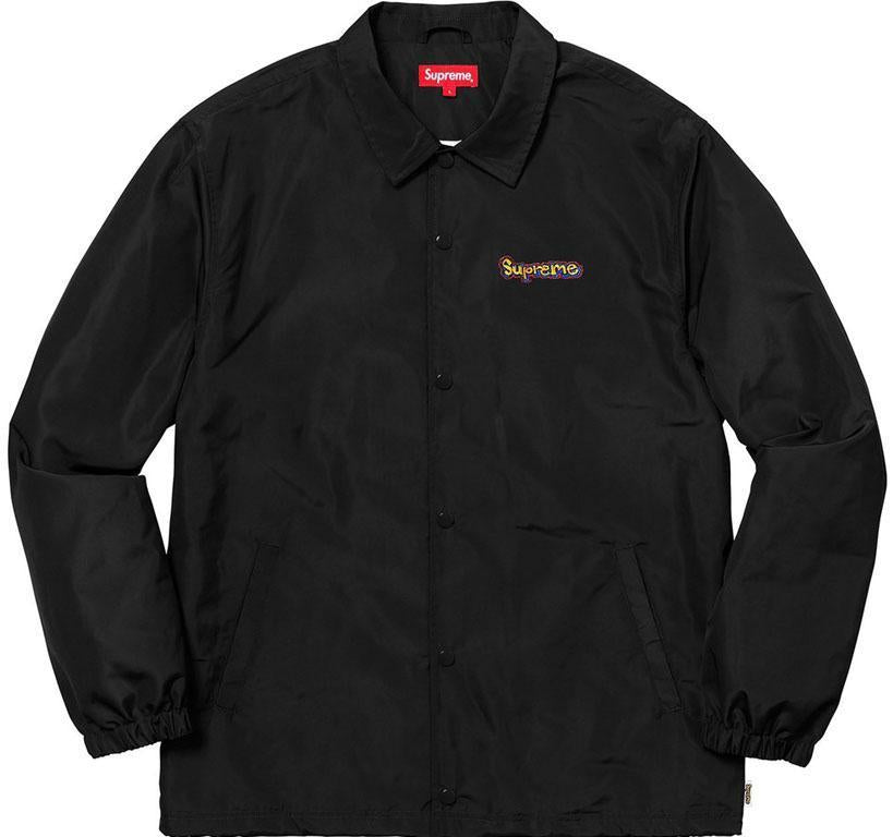 Supreme Gonz Logo Coaches Jacket- Black