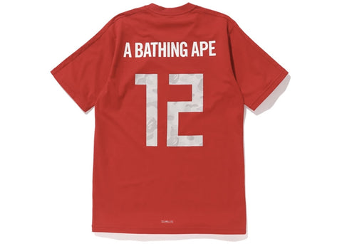 Bape x Adidas World Cup 2018 Winning Collection Football Top Red