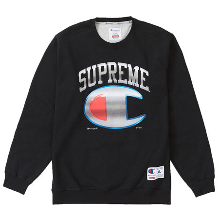 Supreme Champion Chrome Crewneck- Black
