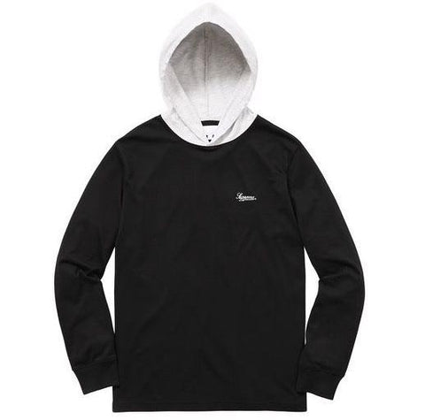 SUPREME Contrast hooded L/S top