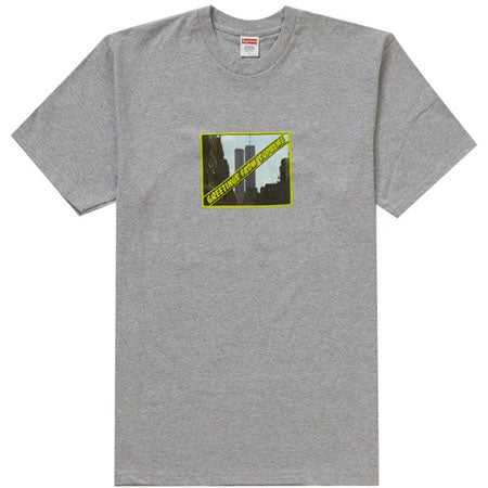 Supreme Greetings Tee- Heather Grey