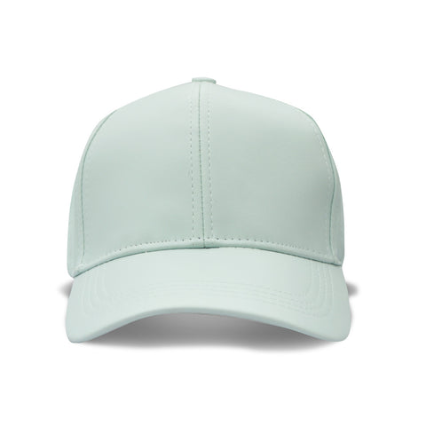 Mint Leather-Style Snapback