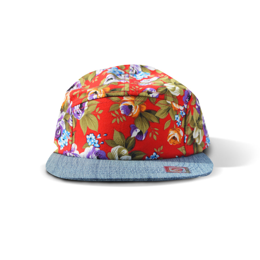 Red Floral Snapback