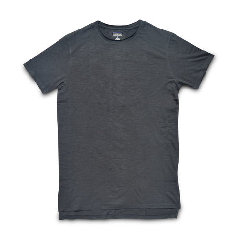 Raw edge Tee (black)