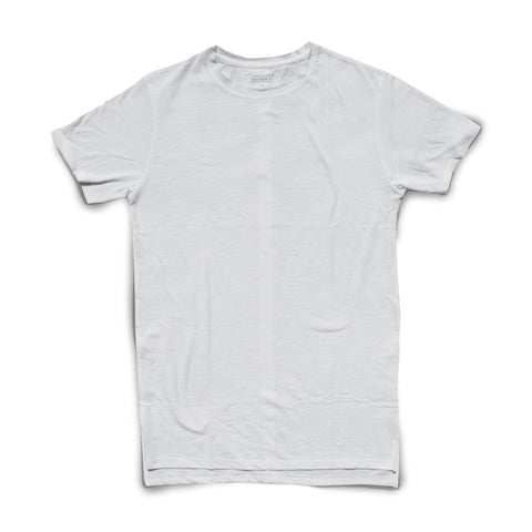Raw edge Tee (white)
