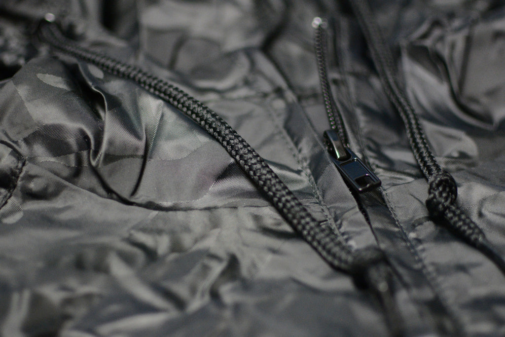 Reflective Camo Hooded Windbreaker