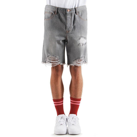 Cut Off Denim Shorts (grey)