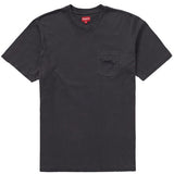 Supreme Overdyed Pocket Tee- Black