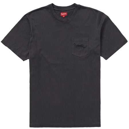 7ce46e8c260 Supreme Overdyed Pocket Tee- Black