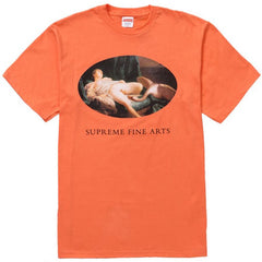 Supreme Leda and the Swan Tee- Neon Orange
