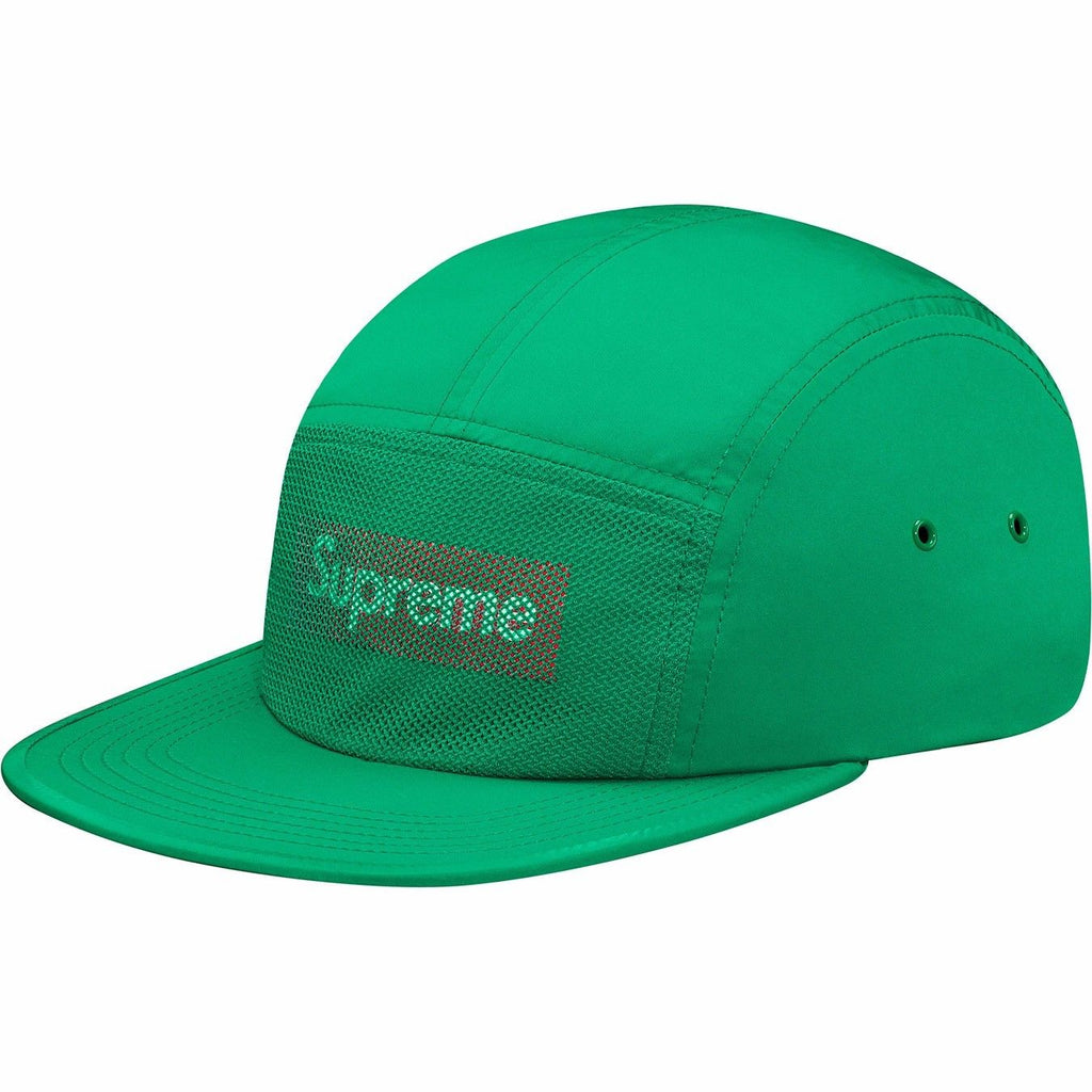 Supreme Front panel mesh camp cap - Green — Streetwear Official dfe1cbcf4b6