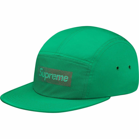 Supreme Front panel mesh camp cap - Green