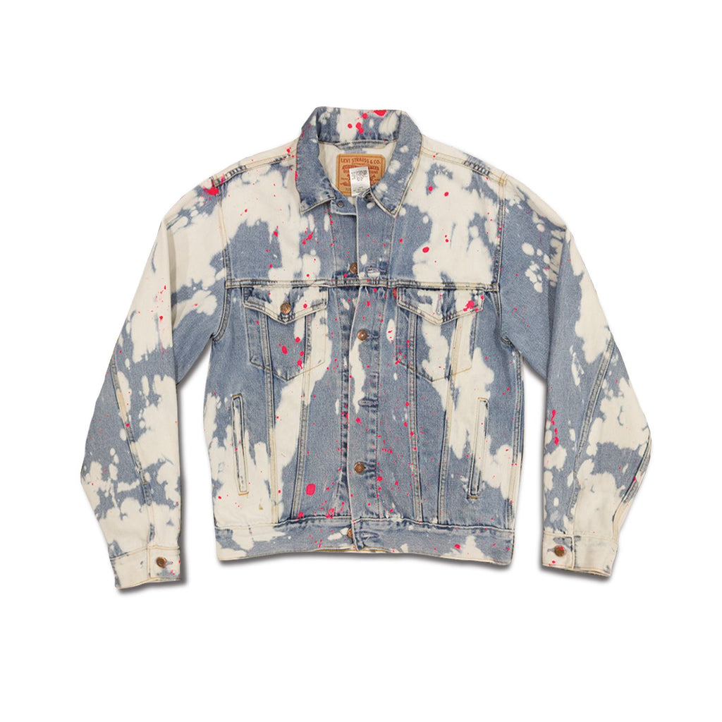 Vintage Levi's Bleach Dyed Paint Splatter Denim Trucker Jacket