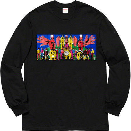Supreme Gilbert & George Death After Life L/S Tee- Black