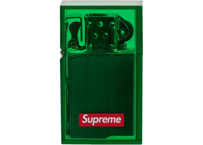 Supreme Tsubota Pearl Hard Edge Lighter- Green