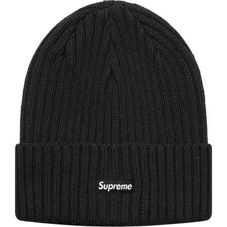 Supreme Overdyed Ribbed Beanie- Black