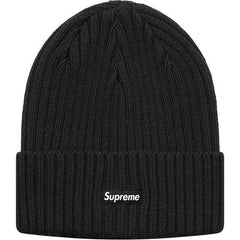 Supreme Overdyed Ribbed Beanie- Washed Black