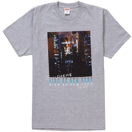 8d026608d845 Supreme King of New York Tee- Heather Grey