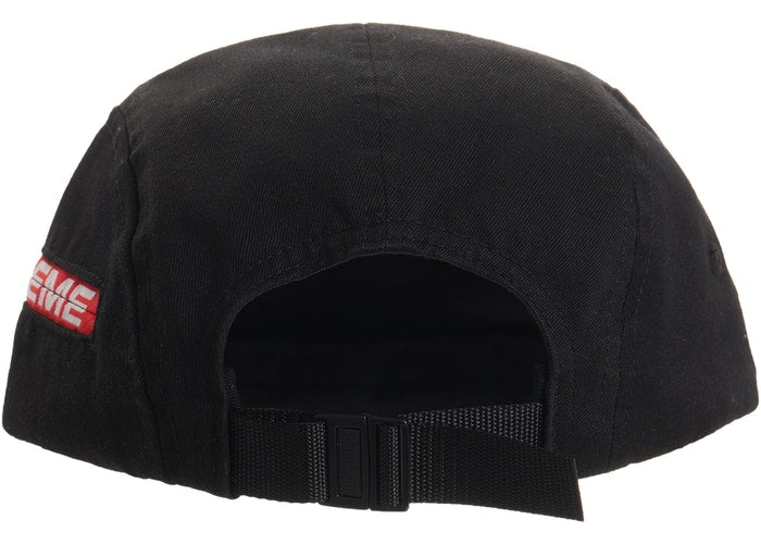 Supreme Side Zip Camp Cap (SS19)- Black