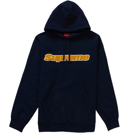 Supreme Chenille Hooded Sweatshirt- Blue