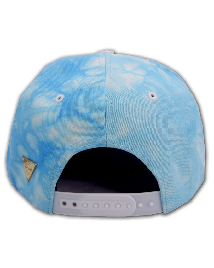 Tie Dye With Faux Ostrich Brim