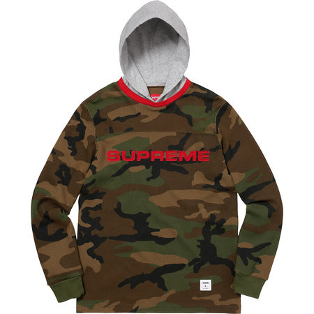 SUPREME Hooded Waffle Ringer - Camo
