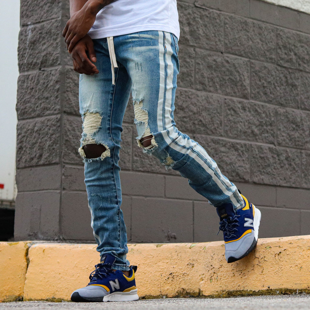 REFLECTIVE DENIM BLU