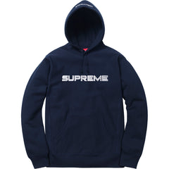 Supreme SS17 Sequin Logo Hooded Sweatshirt - NAVY