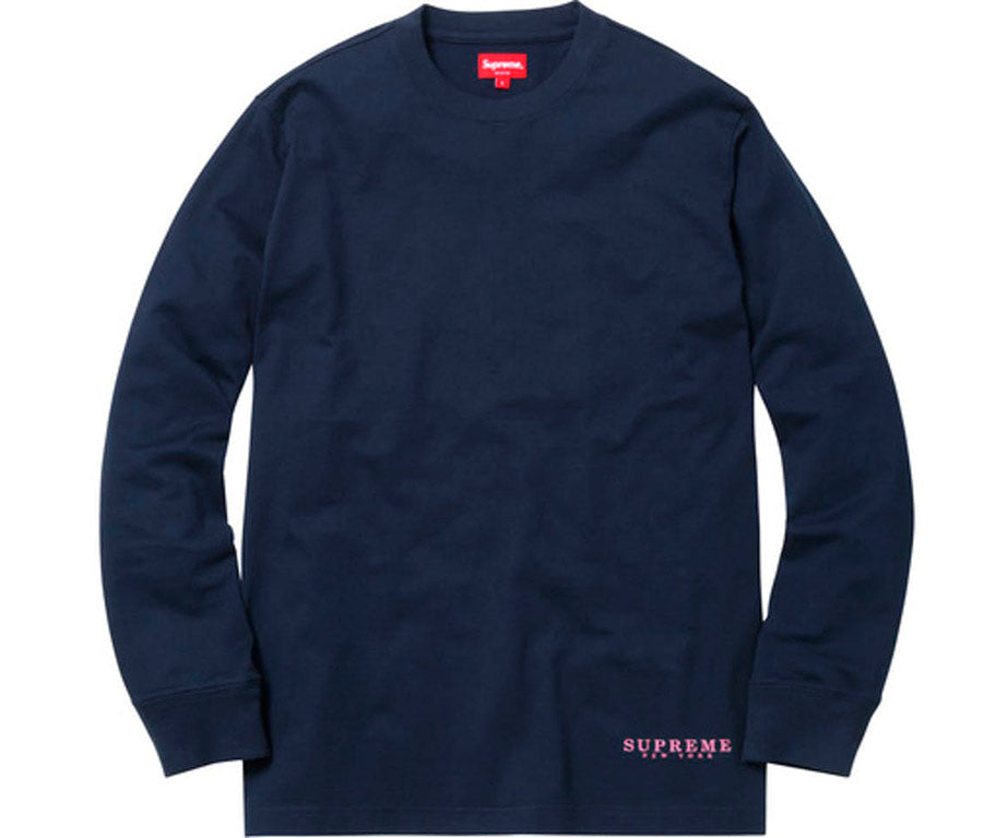 Supreme Department LS Tee- Navy