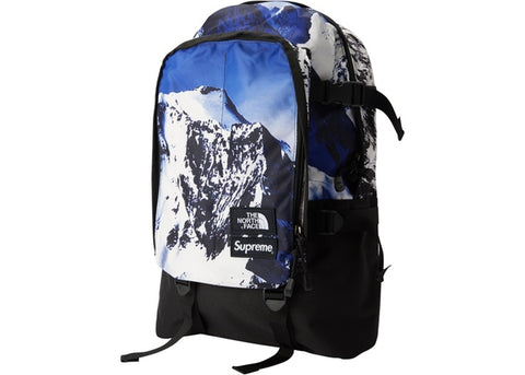 Supreme The North Face Mountain Expedition Backpack- Blue/White